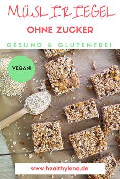 Meine veganen Müsliriegel sind für mich zurzeit die perfekte Wahl für einen schnellen Snack zwischendurch, denn sie liefern schnell Energie und schmecken dazu noch großartig! Hier geht's zum Rezept für die gesunden Müsliriegel: glutenfrei & ohne Zucker.