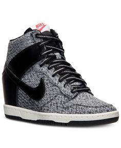 the latest 6aa00 675ef Nike Women s Dunk Sky Hi  99.98 Casual Sneakers, Wedge Sneakers, Sneakers  Nike, Nike