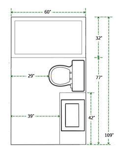 standard 9ft x 7ft master bathroom floor plan with bath and shower rh pinterest com