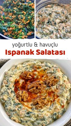 How to Make Yogurt Carrot Spinach Salad Recipe? Illustrated explanation of this recipe in the book of people and photographs of those who try . Salad Menu, Salad Dishes, Easy Salad Recipes, Easy Salads, Crab Stuffed Avocado, Cottage Cheese Salad, Seafood Salad, Wie Macht Man, Tomato Vegetable