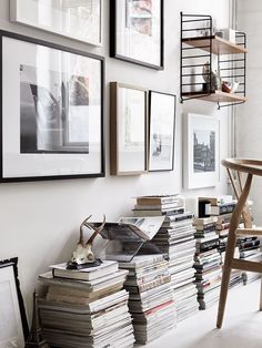 String Pocket by Nils Strinning from String Furniture and Wishbone chair by Hans  J. Wegner From Carl Hansen & Søn   SE5