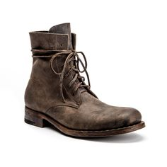 JULIUS GOODYEAR IN FLINT Part of our Exclusive Collection, these limited production boots with a Goodyear Welt are 100% hand sewn - even the sole! 100% Fatta a mano. It takes a mighty strong hand, and