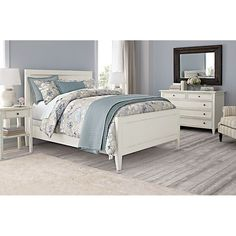 Like This Harbor Bedroom Set From Crate And Barrel. Grey And White Room Or  Grey, Blue, And White.