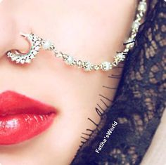 Indian Bollywood Ethnic Gold Tone Nose Ring Wedding Bridal Traditional Jewelry | eBay