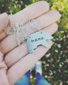 Mama Bear Necklace  This cute little bear is on a 20 chain and is a perfect gift for a mama Baylor Bear!