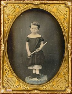 "tuesday-johnson: "" ca. 1850's, [daguerreotype portrait of a boy with a toy sword] """