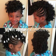 Cute mohawk/ Curls Done With Perm Rods