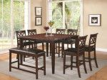 Coaster Dunham Cherry Brown Counter Height Dining Table Set