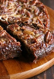 Pecan Pie Brownies — Set this decadent dessert out at your next party and watch them disappear quickly!