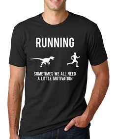 Look at this #zulilyfind! Black 'Running' Raptor Tee #zulilyfinds