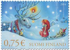 Postin verkkokauppa Postimerkit Aattoilta - 0,75 euron tarrapostimerkki