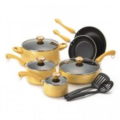 Paula Deen Signature Porcelain 12-Piece Cookware Set, Butt