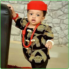 little African prince Baby African Clothes, African Babies, African Children, African Inspired Fashion, African Men Fashion, African Women, Boy Fashion, African Attire, African Wear
