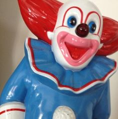#Bozo the Clown novelty telephone. Many of our #noveltyphones have been donated to us, including this one. Bozo's popularity is said to have peaked in the 1960's. Larry Harmon, who turned the character of Bozo into a show business staple died in 2008. He was 83.