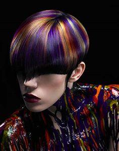 rainbow hair color men - Google Search
