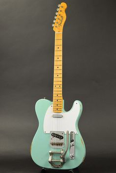 Fender CS Master Built series 1952 Telecaster Bigsby Relic by Dale Wilson Aged Surf Green