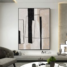 Oversized Abstract Painting,Minimalism Art,C Living Room Decor Wall Art,White Abstract Beige Modern Indoor Neutral Decor Art Painting Oil Painting Abstract, Abstract Wall Art, Living Room Decor Etsy, Modern Art Paintings, Art Pictures, Abstract Pictures, Painting Inspiration, Creative Art, Wall Decor