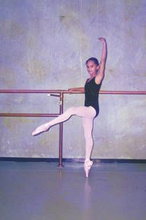 misty copeland as a child. One of the most famous ballerinas in the US.
