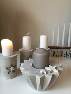 DIY Kerzen Beton Weihnachten