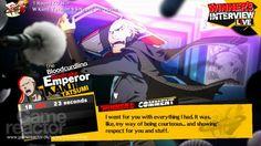 Persona 4 Arena UI screens