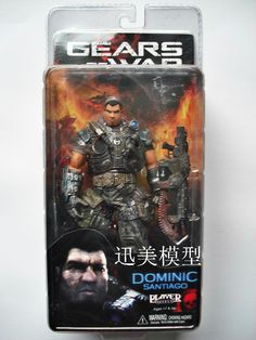 "Hot Sale NECA Game Figure Gears Of War 2 Dominic Box Verisimilitude 7"" Action Figure Toys Best For Collection  $26.50"