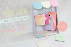 Tiny origami closet + clothes - cute  Doing this √