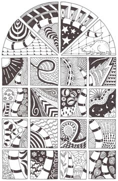 Zentangle made by Mariska den Boer 21- would love to use this outline (the window look) for a zentangle