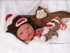 NewBorn baby boy and his monkeys