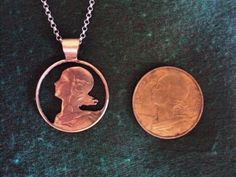 Old coins into jewels! - I love this, but it it also makes me a little sad that the original coin is destroyed...