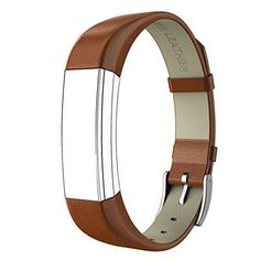 Fitbit Alta HR and Alta Bands Leather Swees Genuine Leather Band With Buckle Replacement Wristband Small & Large for Fitbit Alta HR and Alta Brown