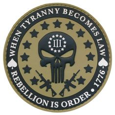 Patch Squad Men's Three Percent Tyranny Punisher Liberty Morale Patch PVC Can be used with Condor, Tru-Spec and other Operator / Contractor Caps Pvc Patches, Tactical Patches, Tactical Gear, Patriotic Tattoos, Flag Tattoos, Tatoos, Punisher Skull, American Freedom, American Flag