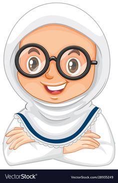 Islam For Kids, Cover Template, Muslim Girls, Islamic Art, Paper Piecing, Vector Art, Royalty Free Stock Photos, Web Design, Clip Art