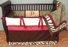 This bedding can have any color (red or anything else)...congo bedding