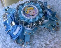 Cinderella Hair Bow headband hair clip hair by SweetandCuteBows, $15.00