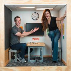 When you meet the boss and talk tech in a very unusual office, Mark Zuckerberg