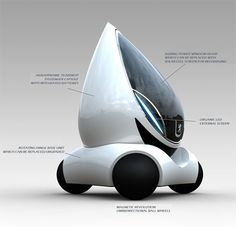 Tear Drop Shaped Futuristic Car Concept