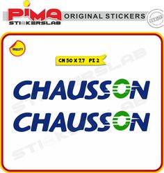 ADESIVI STICKERS CHAUSSON CAMPER CARAVAN ROULOTTE