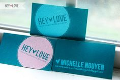 New Hey Love Business Cards by heylovedesigns