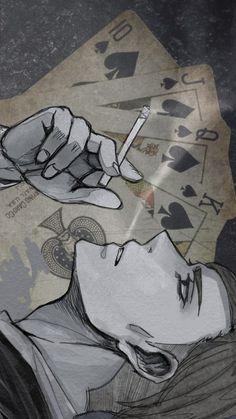 進撃の巨人 Erwin Smith as a mafia dealer and card Gambler