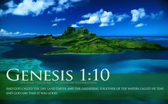 Bible Verses Genesis 1-10 Ocean Island Beautiful Landscape HD ...