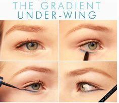 The gradient under wing. Eyeliner