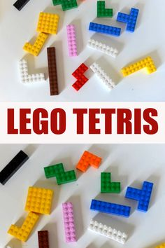 Easy LEGO Tetris game and other great LEGO learning ideas for kids. Create tetris pieces with LEGO and find a freidn to play with! Lego For Kids, Math For Kids, Games For Kids, Crafts For Kids, Lego Maze, Lego Lego, Lego Batman, Lego Ninjago, Kids Learning Activities