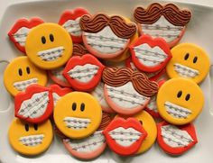 Funny Othodontist Cookies - Wish I had seen these earlier - I totally should've made these for a sweet little girl I know that just got braces