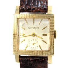 14k gold wittnauer square vintage watch squares and vintage watches 14k gold wittnauer square vintage watch sciox Choice Image
