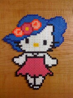 Hello Kitty big hat perler beads by Megan T. - Perler® | Gallery
