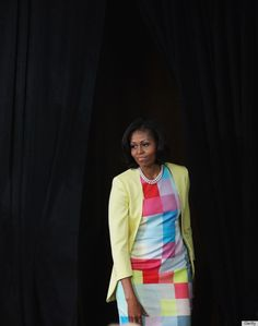 Michelle Obama wears this fabulous Preen dress...again! http://www.huffingtonpost.com/2012/06/05/michelle-obama-preen-dress-disney_n_1571535.html?utm_hp_ref=michelle-obama-style#