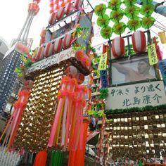 平塚七夕祭り   娘は生まれて7年間皆勤賞です。
