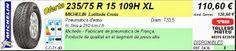 Tallers Mateu: 235/75 R 15 109H XL MICHELIN LATITUDE CROSS (4x4)
