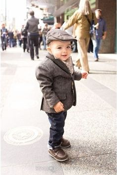 Baby hipster boy clothes idea #4! Cute little paper man hat and suit. :-) awww!! <3