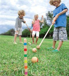 Main image for Large Rainbow Croquet Set